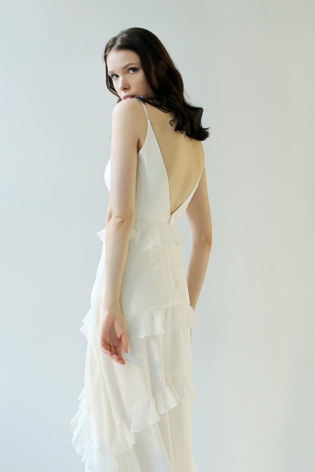 V back wedding dress by Leanne Marshall