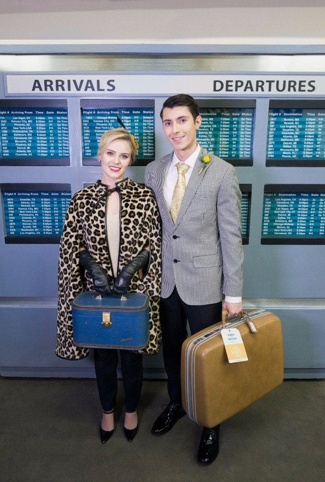 vintage jet setters all set for their honeymoon!