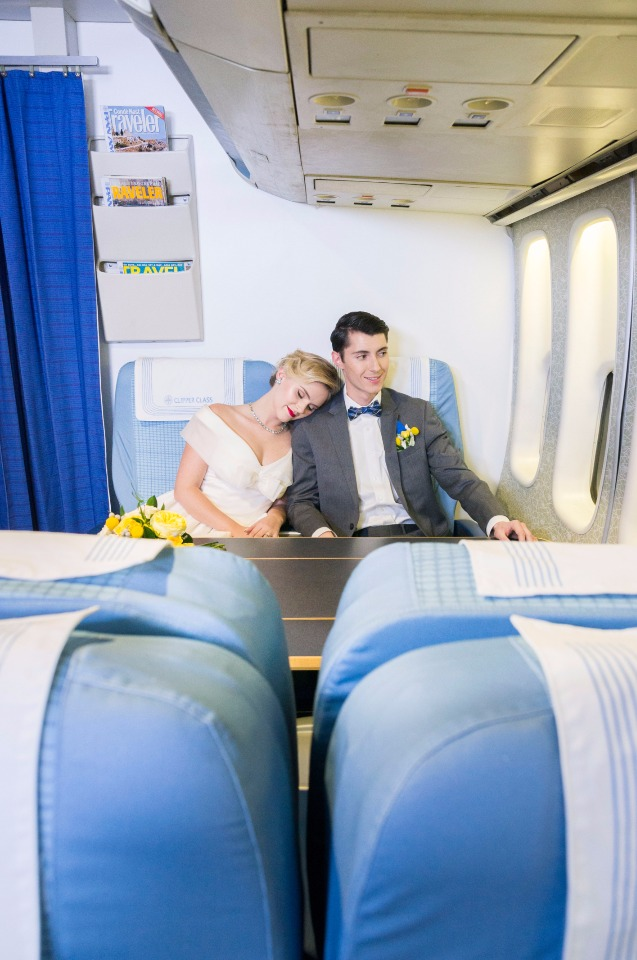 vintage jet setters wedding idea