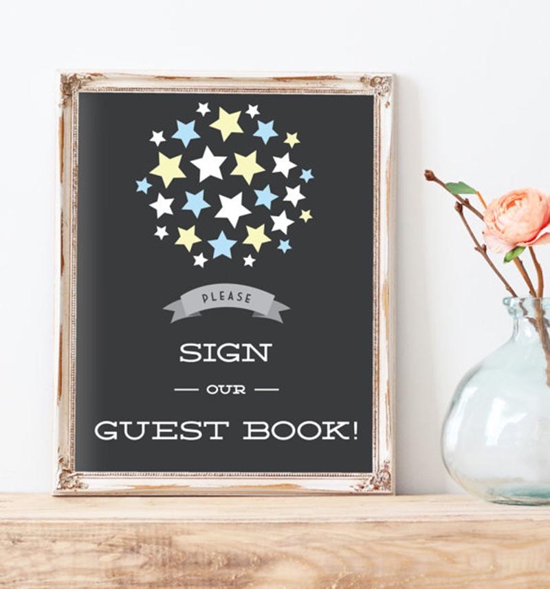 You have the perfect guest book but now you need a matching sign by Miss Design Berry! Get this sign and we will customize the colors