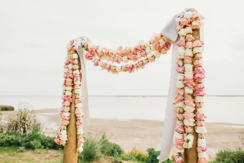 Rose garland for your ceremony