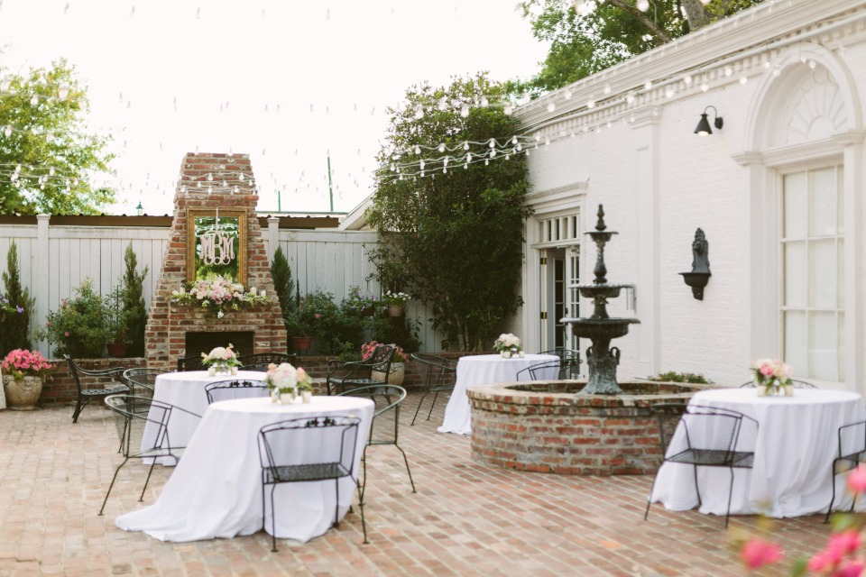 patio seating for your wedding reception