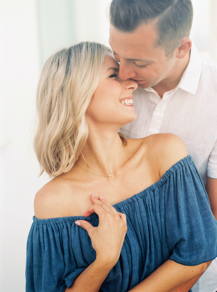 fun and cute engagement photo pose