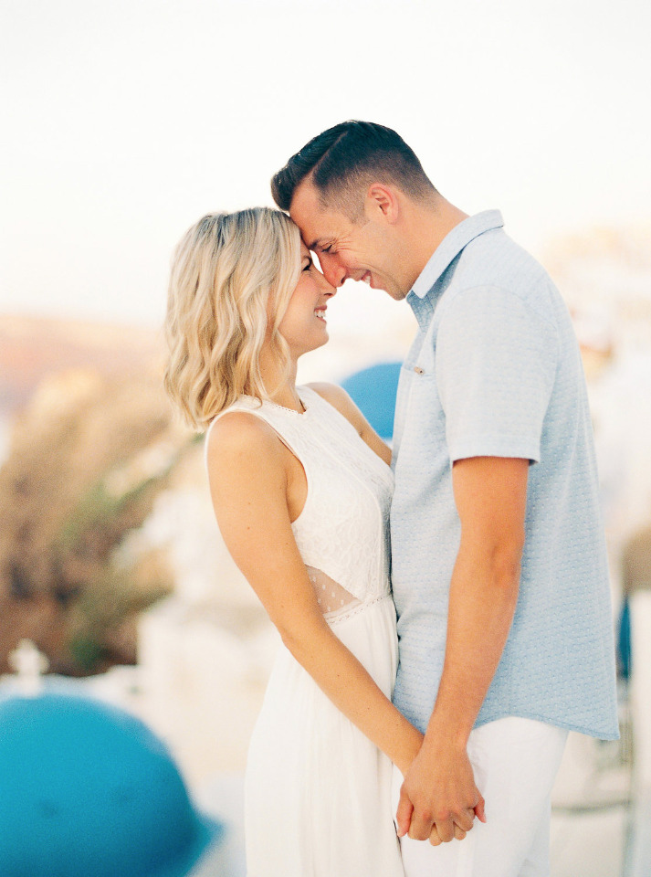 When You Give A Girl A Ring In Santorini, Greece Magic Happens
