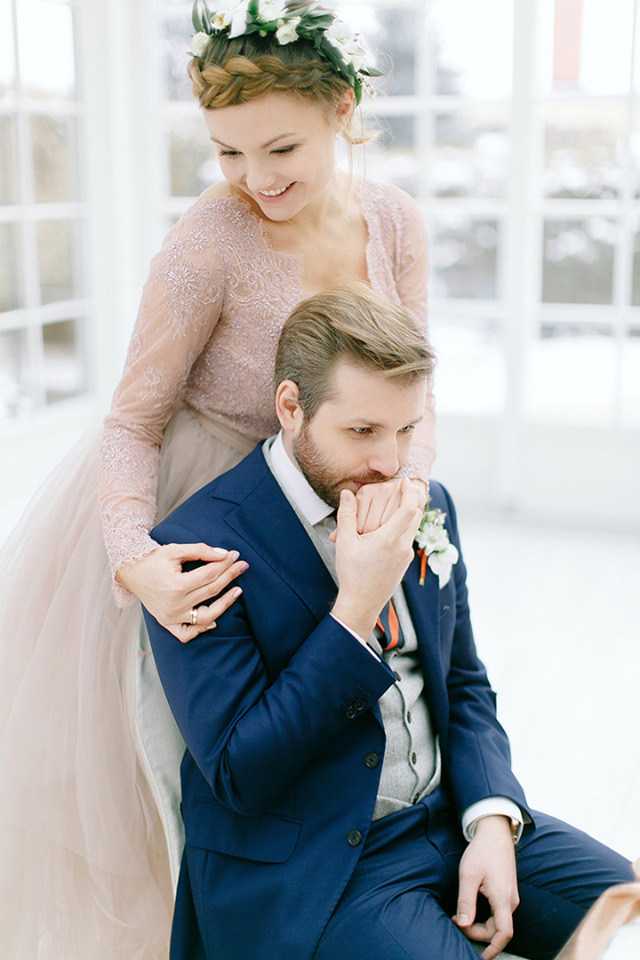 adorable bride and groom pose