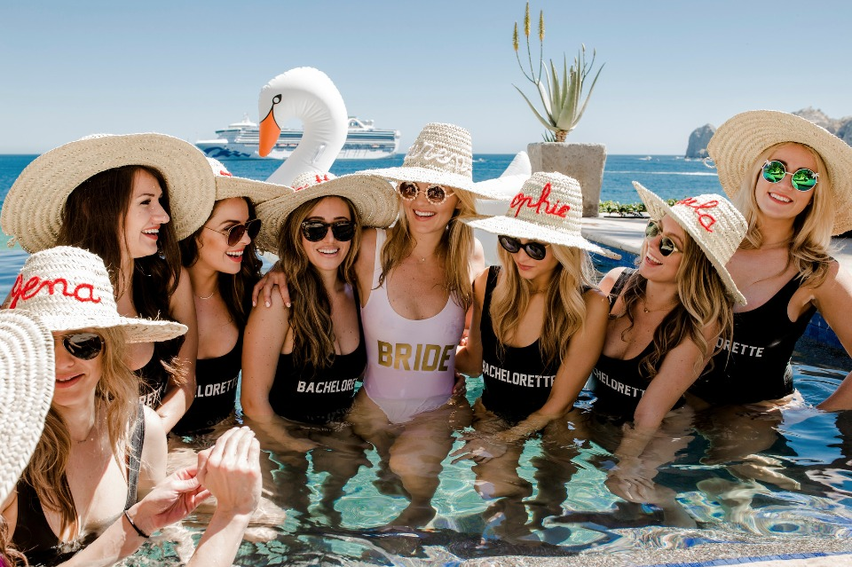 Cute matching suits for your bachelorette party