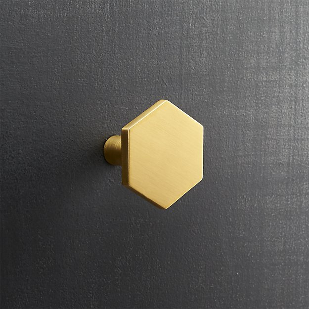 hex cabinet pulls from CB2