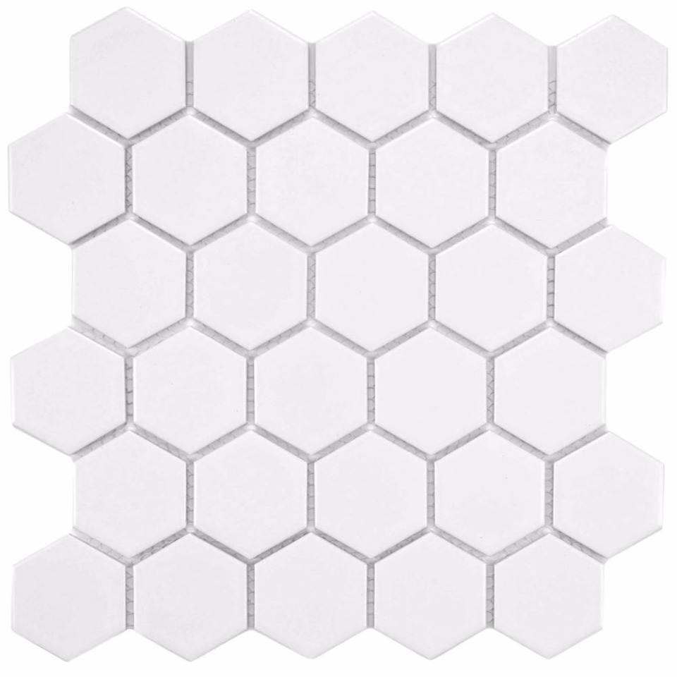 hex tiles from Home Depot
