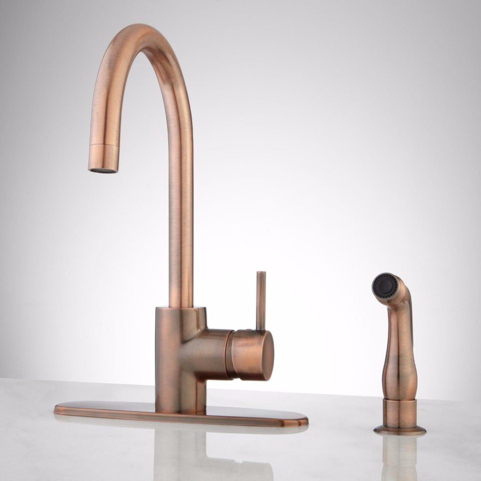 copper faucet from signature hardware