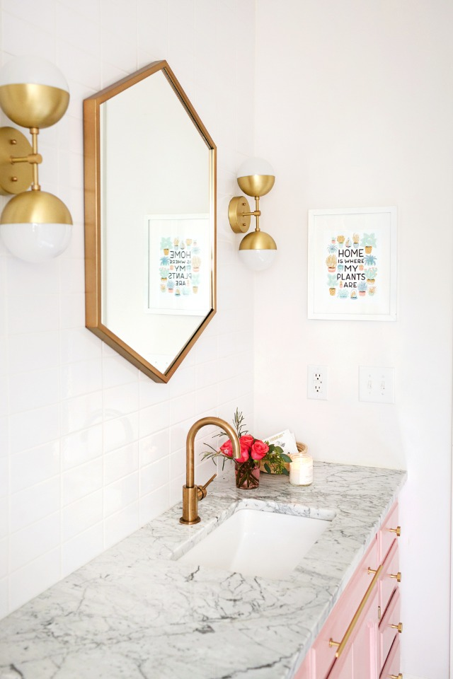 modern and yet vintage bathroom