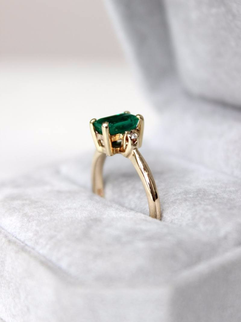 Pure, one of a kind emerald. There's nothing better.