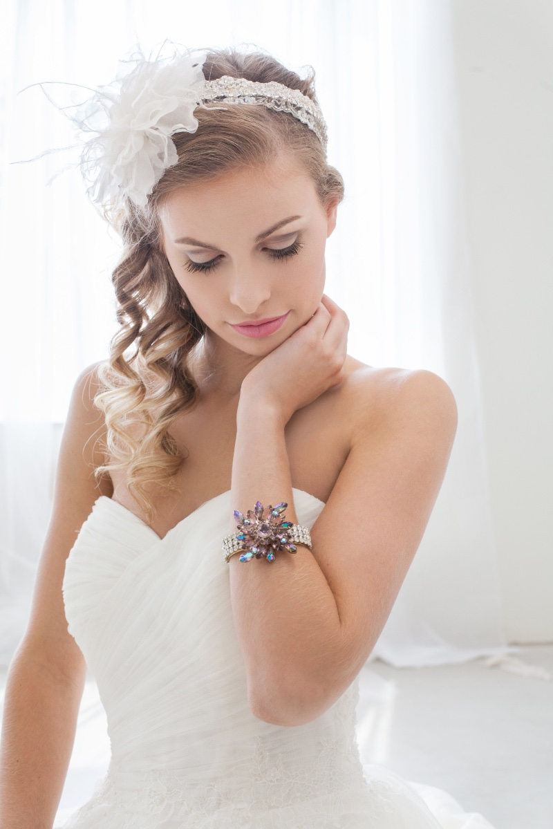 Find your unique bridal accessory designed with vintage jewels at Cloe Noel Designs.