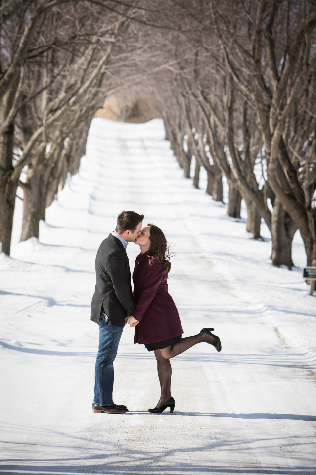 Walking In A Winter Wonderland With An Engagement Ring And A Fiance