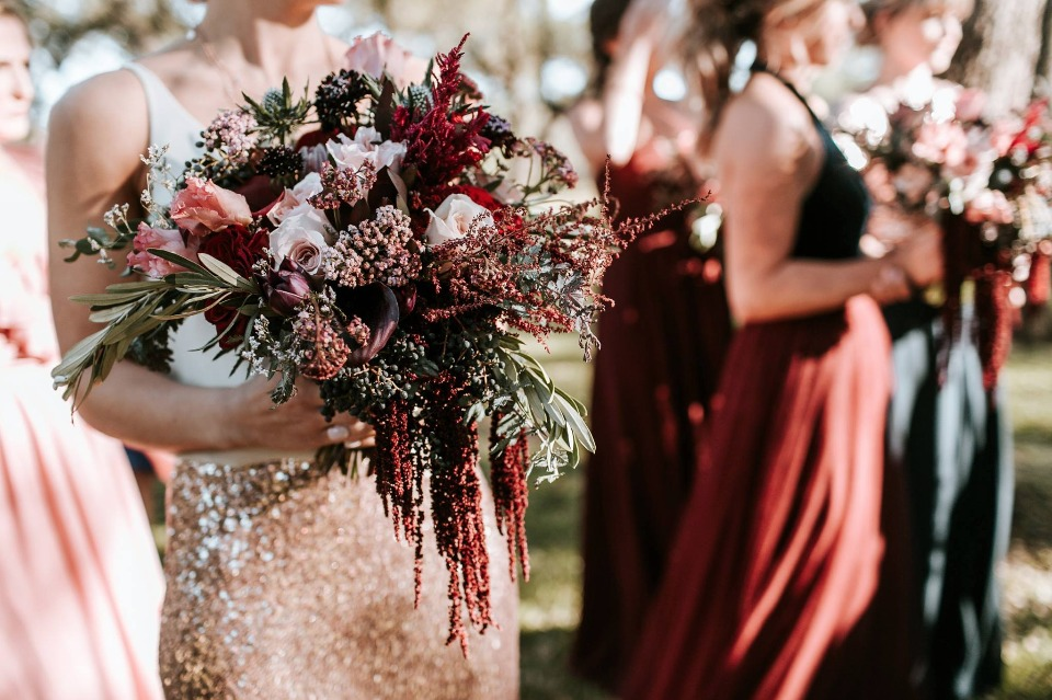 gorgeous fall inspired wedding bouquet