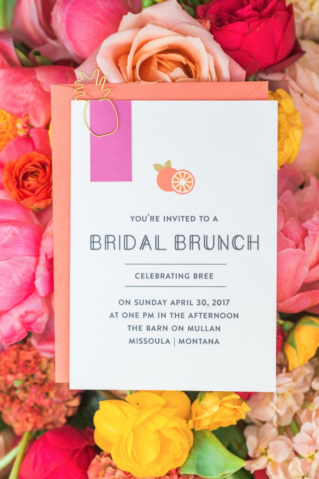 Bridal shower brunch invite