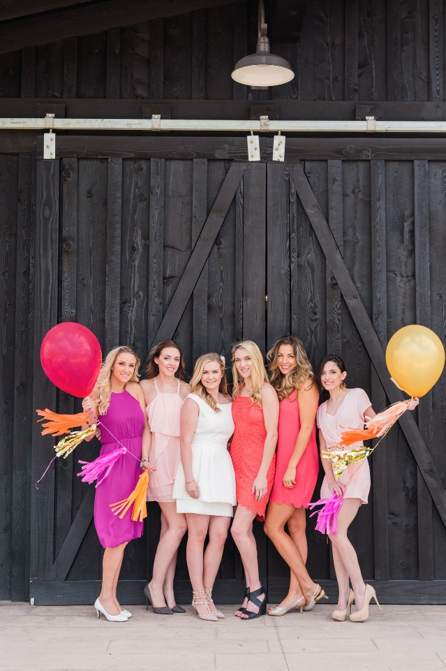 Colorful bridal brunch