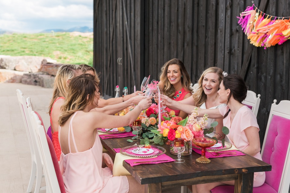 Cheers to the bride-to-be!