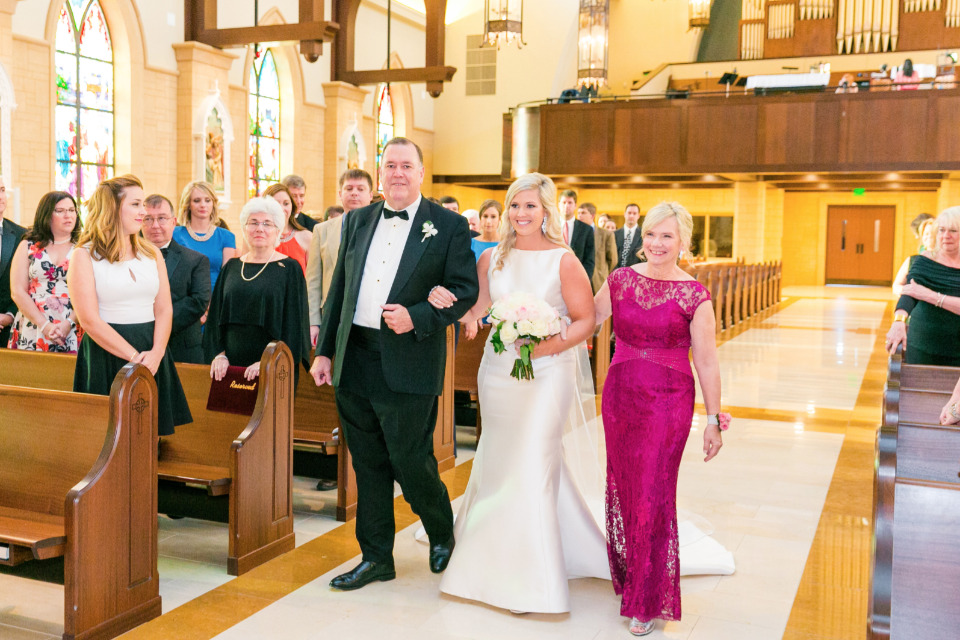 walking down the aisle with mom and dad