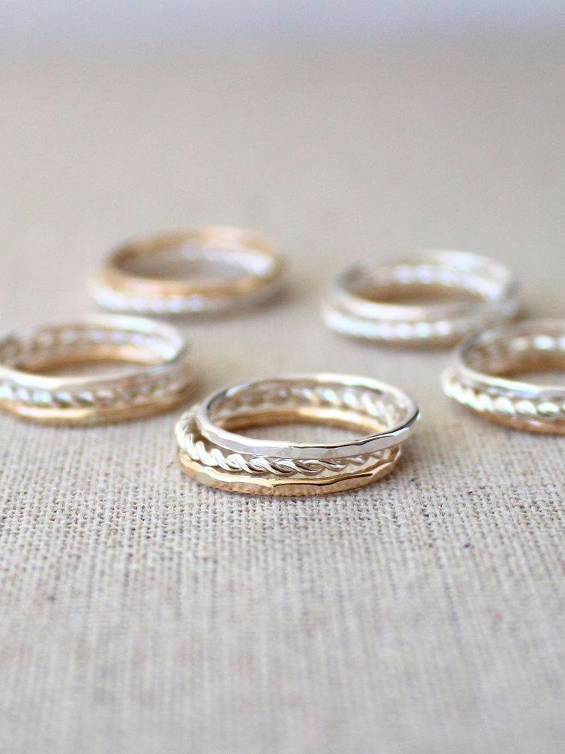 A set of stacking rings for your favourite girls, made to order.
