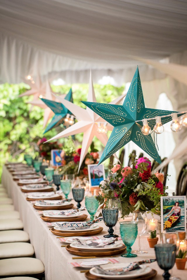 family style dining under the stars