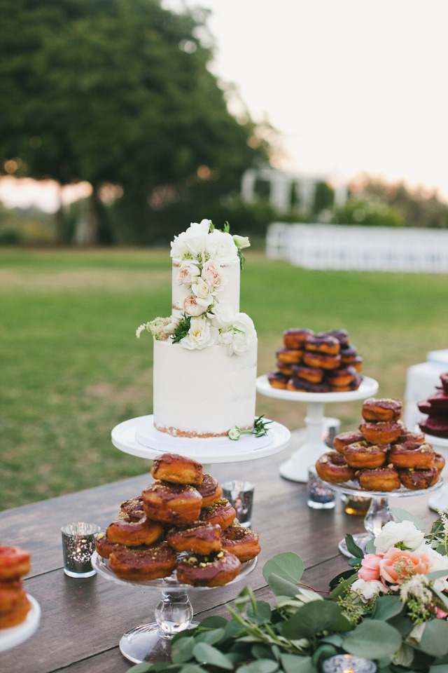 yummy donuts and wedding cake