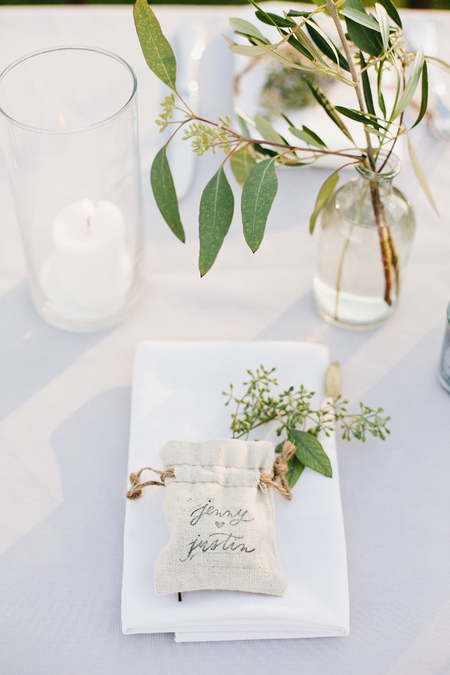 cute stamped wedding favor bags