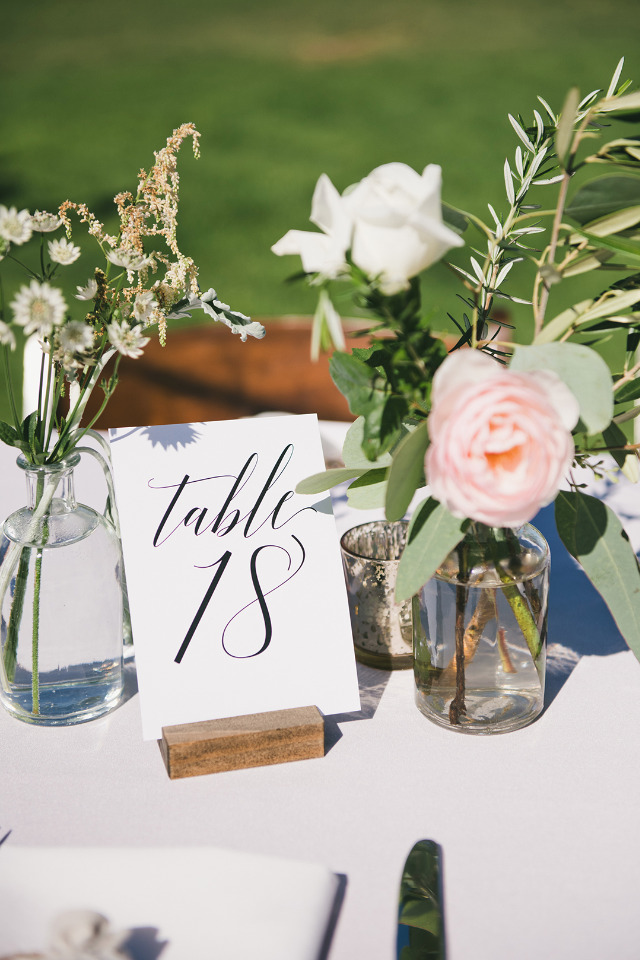 classic wedding table number