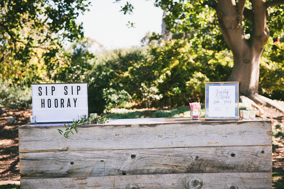 sip sip hooray fun wedding sign