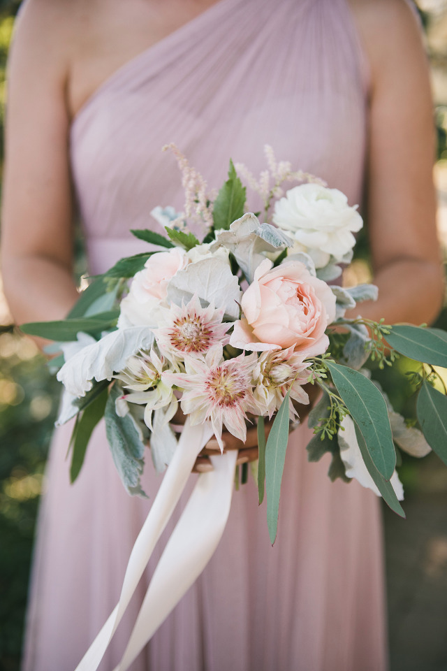 pretty pink bridesmaid bouquet