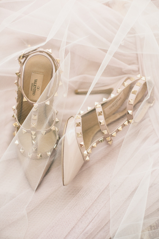 Valentino studded nude wedding shoes