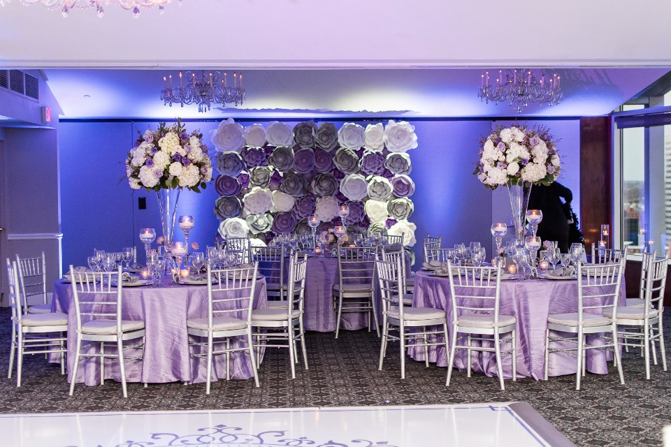 Purple white and silver wedding - wish upon a wedding