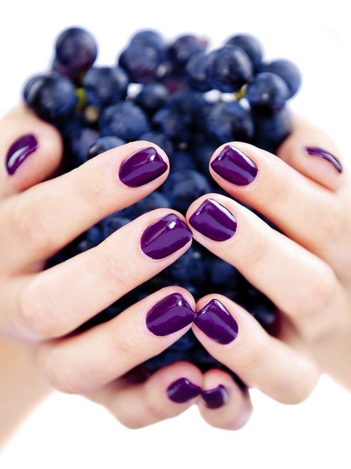 bright purple nails