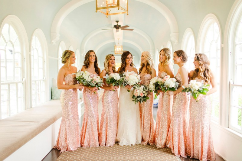 Light up your night with these beautiful bridesmaid gowns