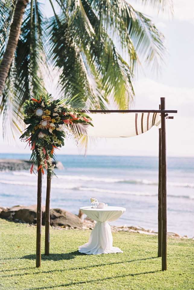 beautiful Hawaii wedding ceremony