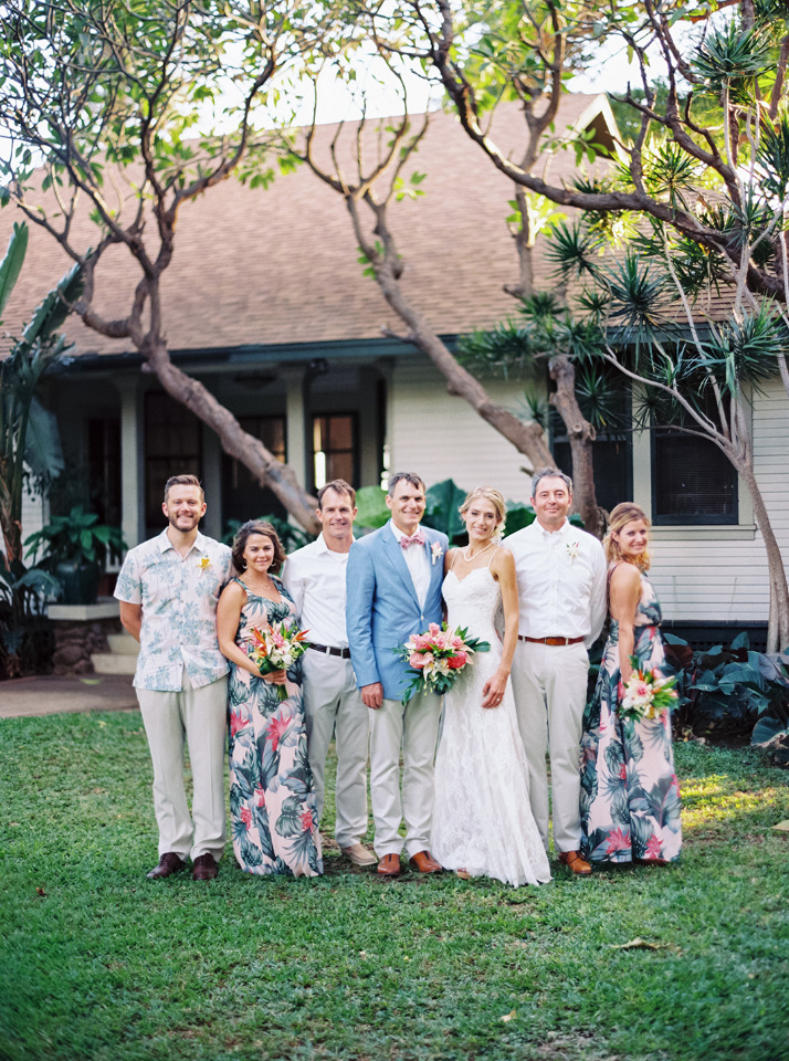 tropical wedding party attire
