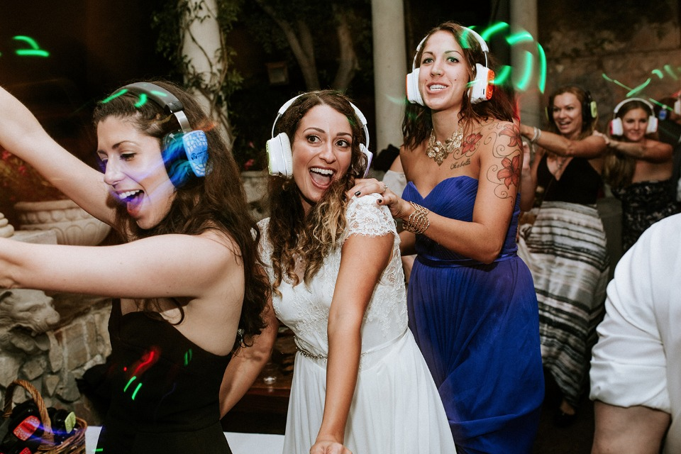 A silent disco to close out the evening