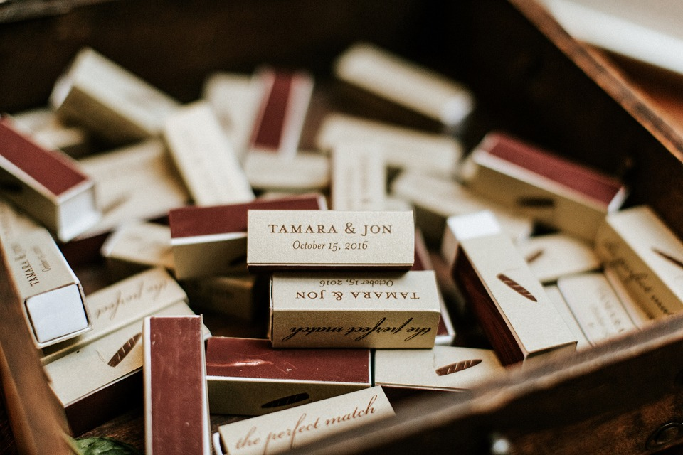match books for favors