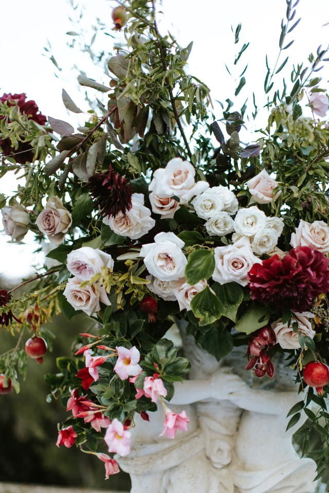romantic floral decor for your big day