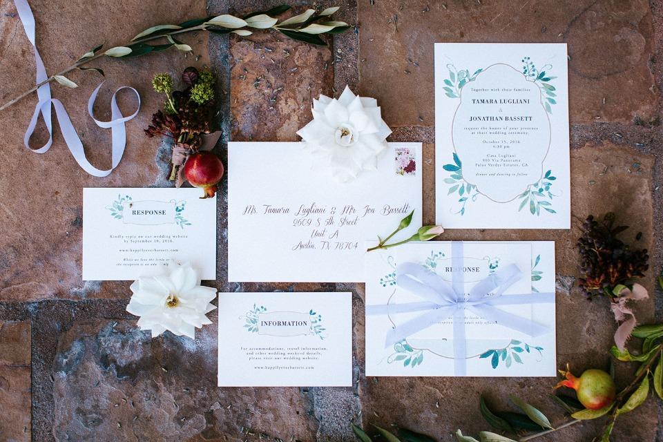 wedding stationery for your garden wedding