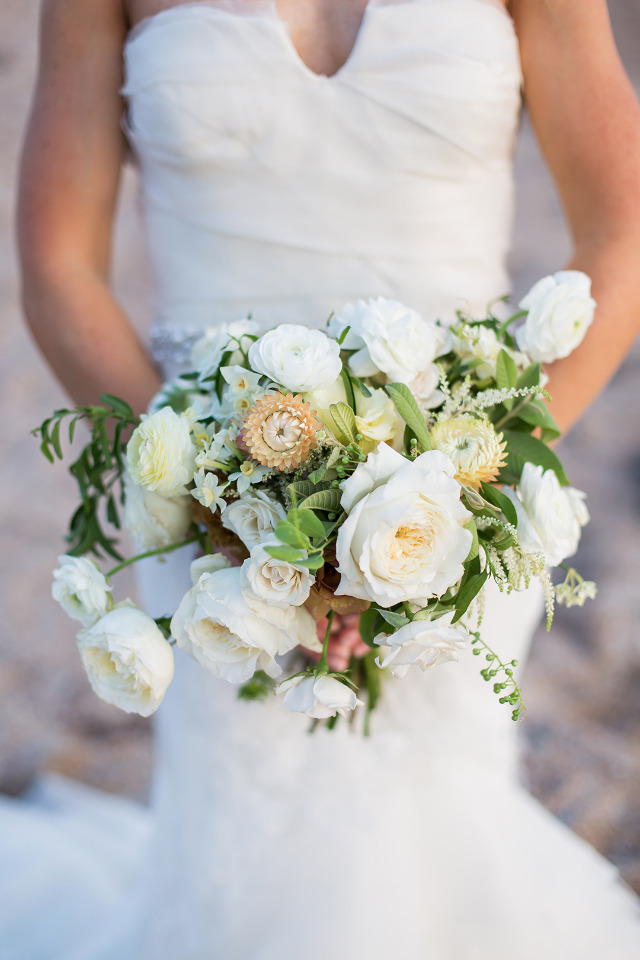 mixed white wedding bouquet