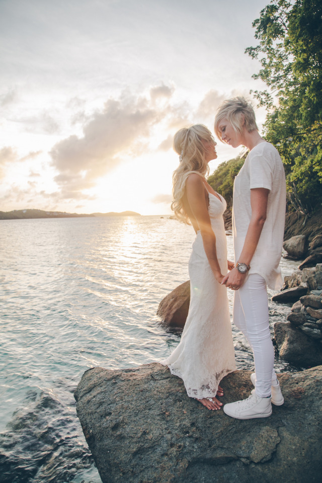 gorgeous sunset wedding in the Virgin Islands