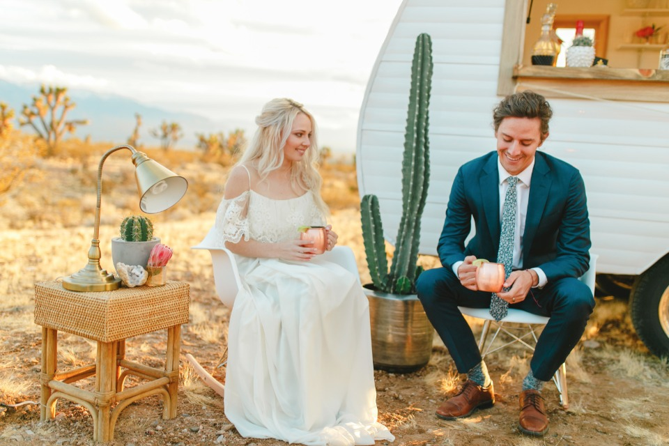 Desert romance wedding ideas