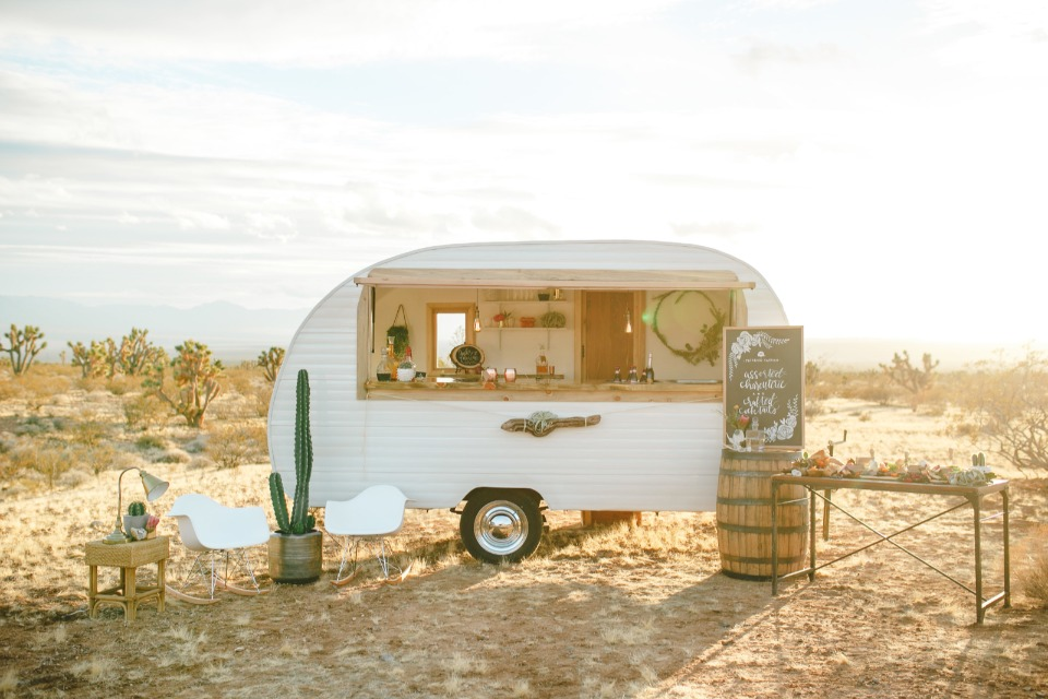 Mini mobile wedding bar
