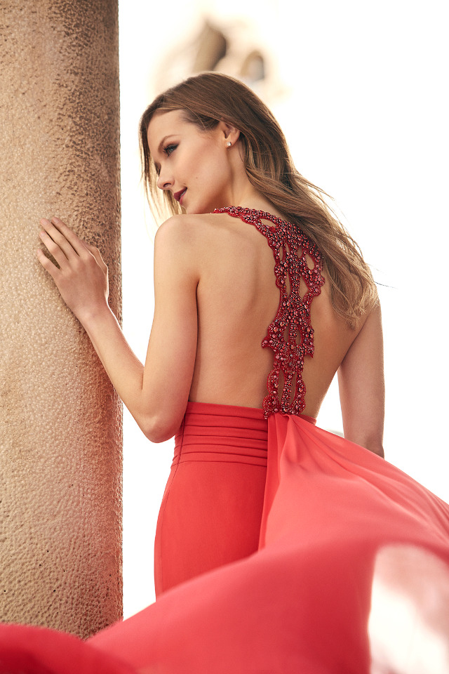 beaded back Pronovias 2018 Cocktail Collection dress