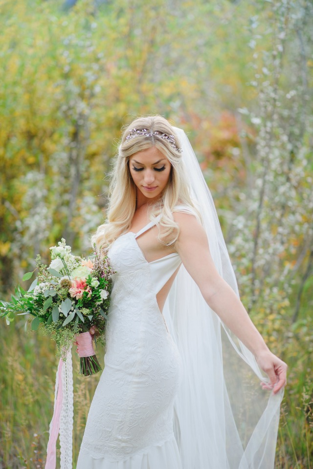 body hugging wedding dress