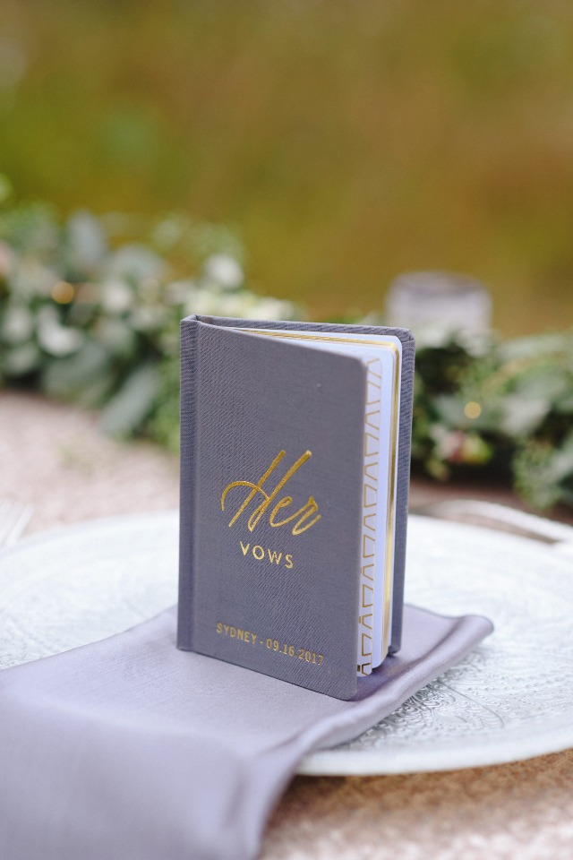 wedding vow book from Wedding Star
