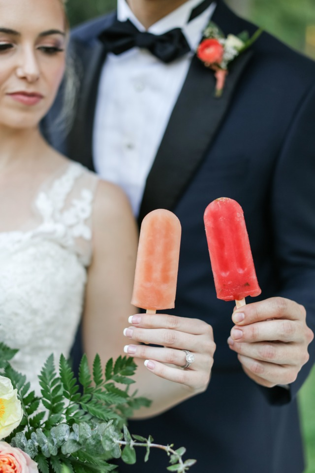 Popsicle bar for a summer wedding