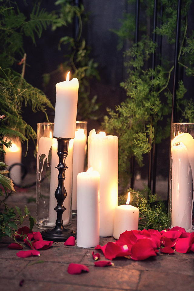 wedding lighting pillar candles