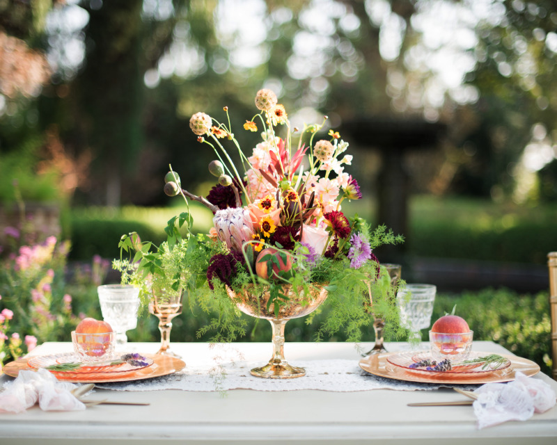 Fun and fruity floral arrangement // Park Winters, CA