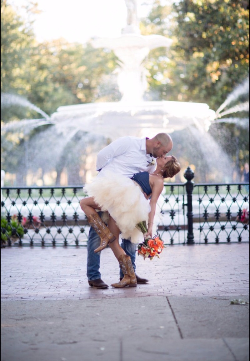 Short and sassy this layered wedding tutu is adorable! In cream, ivory and white the ruffled layers make for a very full and fun skirt